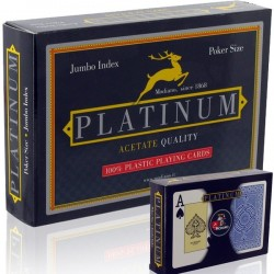 2 Mazzi di Carte Modiano TEXAS PLATINUM ACETATO 2 Jumbo Index