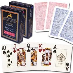 Carte  Poker 100% Acetato Jumbo Index