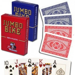 Carte  Poker Bike Trophy 2 Jumbo index 100% Plastica