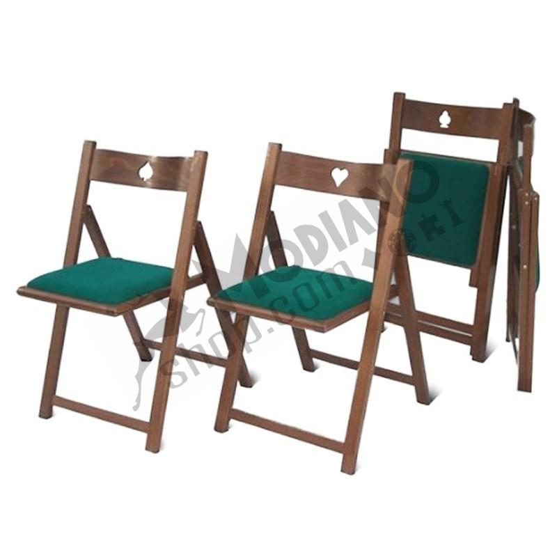 Sedie In Legno Massiccio.Set Di 4 Sedie Poker In Legno Massiccio