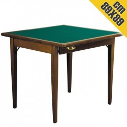 Tavolo da Gioco in Legno POKER 89x89 cm Pieghevole