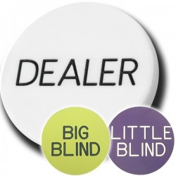 Dealer Button Set da 3 pezzi Dealer + Big Blind + Small Blind