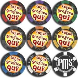 Fiches / Chips LAS VEGAS  14,5 gr PERSONALIZZATE con il tuo logo o grafica