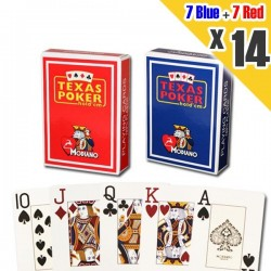 14x Carte MODIANO Poker Texas 100% Plastica Jumbo