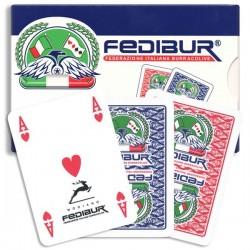 Carte da Gioco Burraco Plastica  FEDIBUR 100% PVC