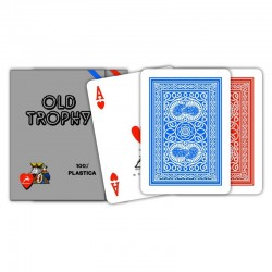 Carte POKER PL OLD TROPHY MOTO Blu o Rosse