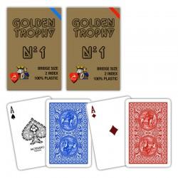 Carte BRIDGE PL GOLDEN TROPHY 2 Index Blu o Rosse