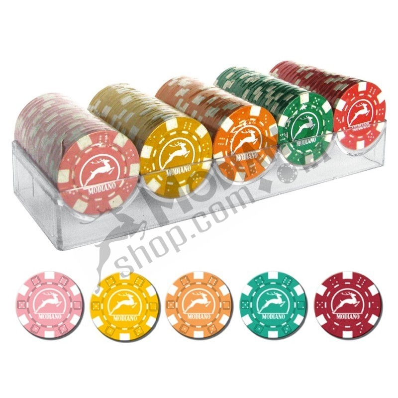 100 Chips 14g senza valore 5 colori A Texas Hold'em