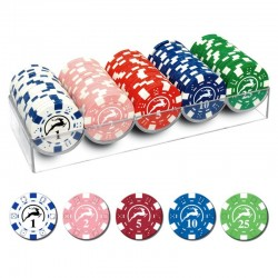 100 Chips 14g con valori bassi 5 colori Texas Hold'em