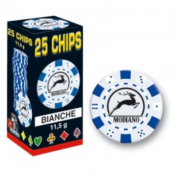 25 Chips 11,5g Bianco Texas Hold'em