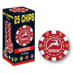 25 Chips 11,5g Rosso Texas Hold'em