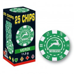 25 Chips 11,5g Verde Texas Hold'em
