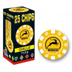 25 Chips 11,5g Giallo Texas Hold'em