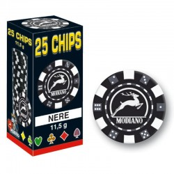 25 Chips 11,5g Nero Texas Hold'em