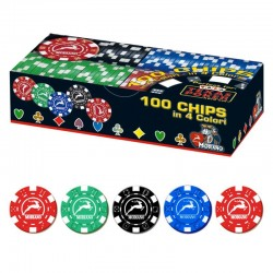 100 Chips 11,5g senza valore 4 colori Texas Hold'em