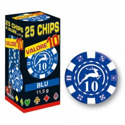 25 Chips 11,5g Blu VALORE 10 Texas Hold'em