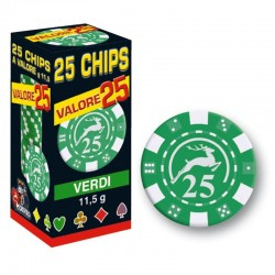 25 Chips 11,5g Verde VALORE 25 Texas Hold'em