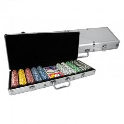 VALIGETTA 500 Chips 11,5g alluminio Texas Hold'em
