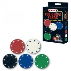 SET 100 Chips 3,75g 5 colori Texas Hold'em