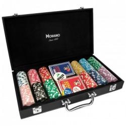 VALIGETTA 300 Chips Poker similpelle (vuota)
