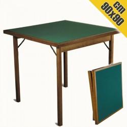 Tavolo da Gioco in Legno CLASSIC 90x90 cm Pieghevole